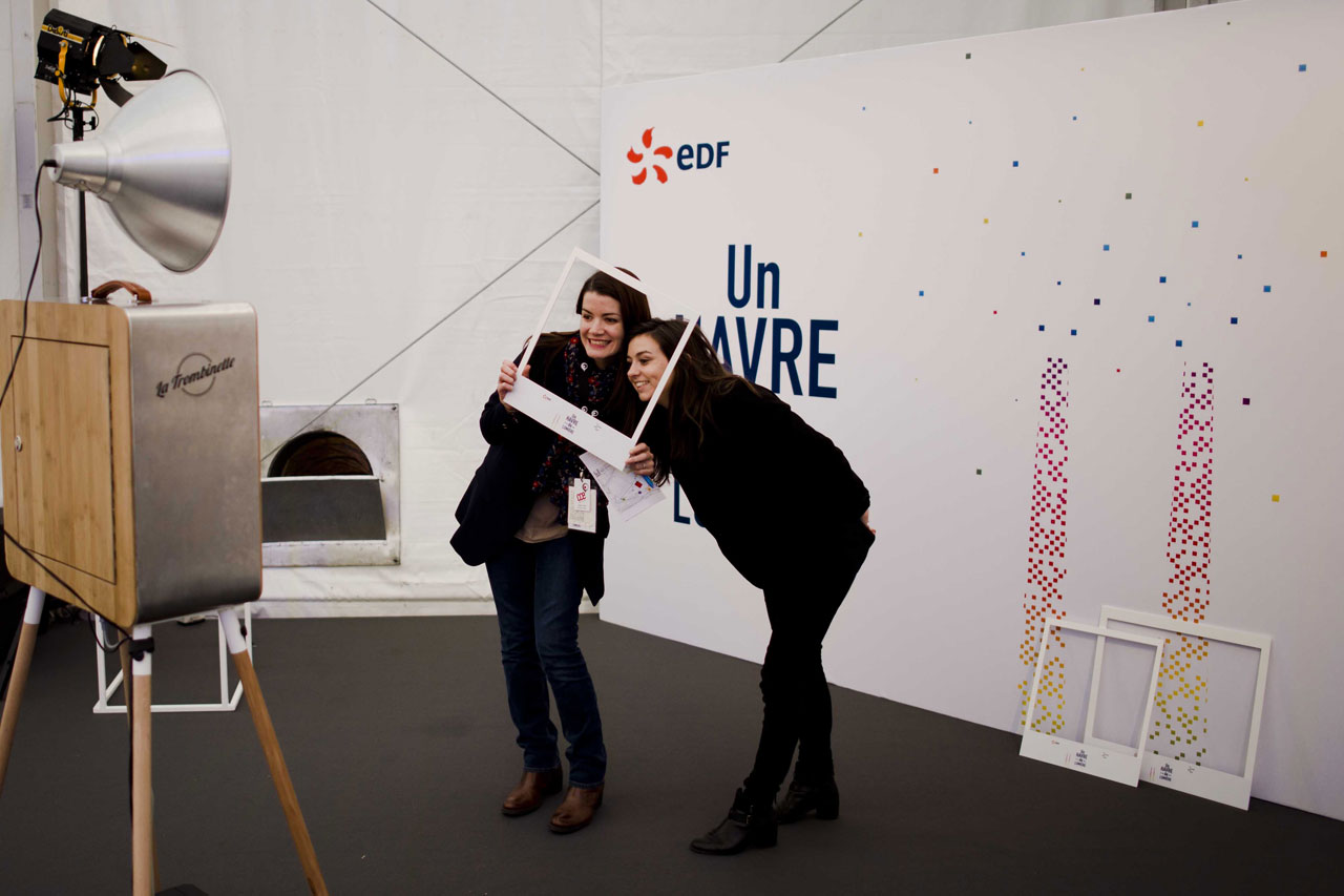 Borne photo centrale EDF du Havre. Location photobooth