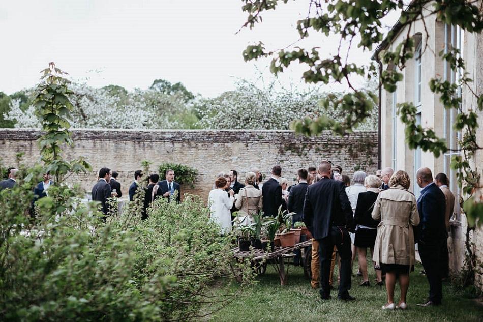 mariage château borne bambou