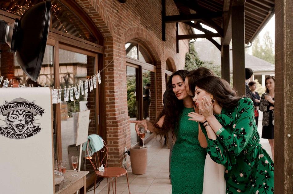 mariage bohème en vert