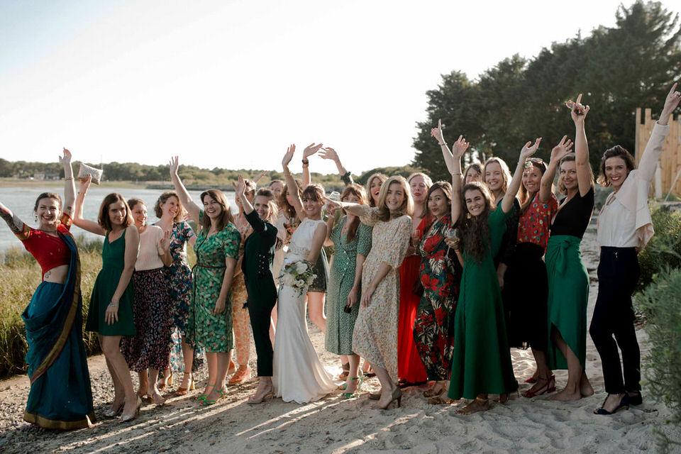 Un mariage les pieds dans l'eau en Bretagne