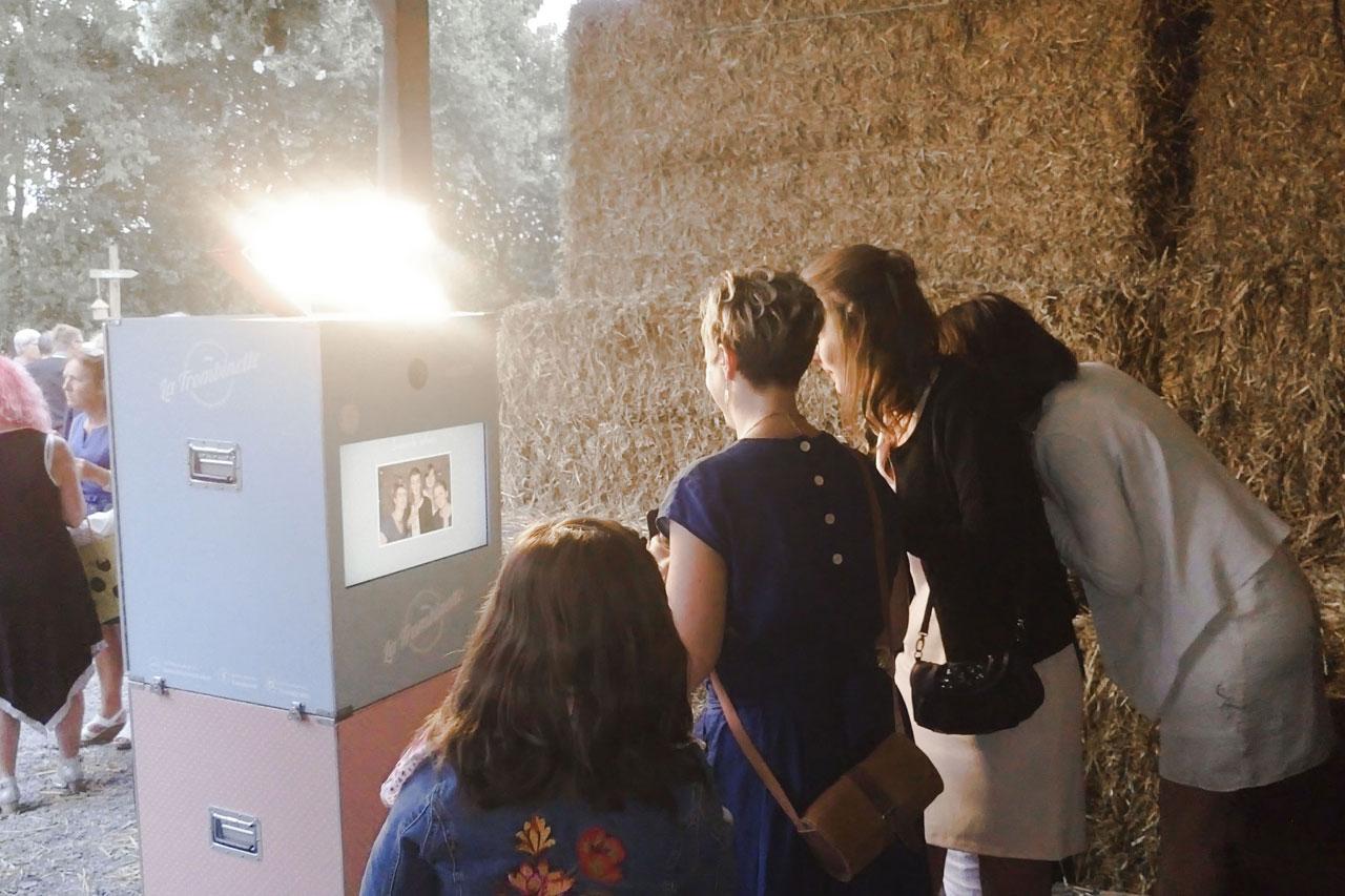 Mariage bucolique avec photobooth
