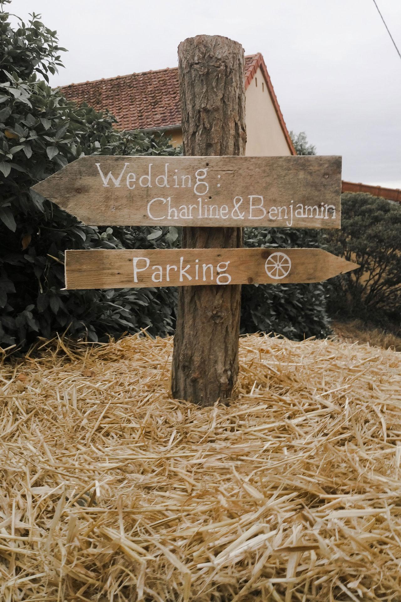 Borne photo mariage champêtre