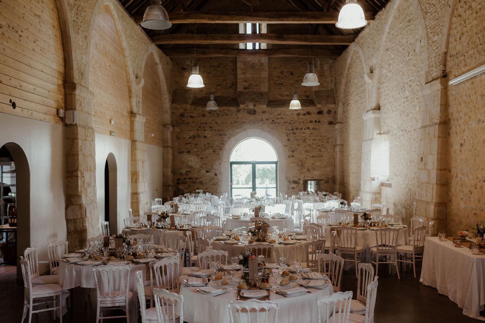 Décoration de salle mariage en Normandie